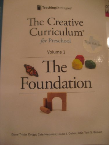 9781606173695: The Creative Curriculum for Preschool: The Foundation, Vol. 1