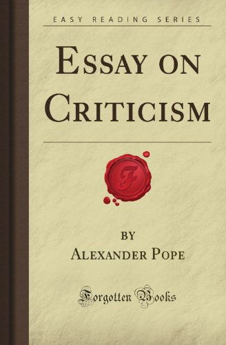 criticism of alexander pope essay
