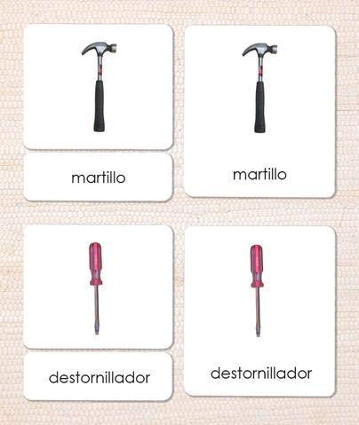 9781606291122: Las Herramientas (Tools) Spanish 3-Part Cards