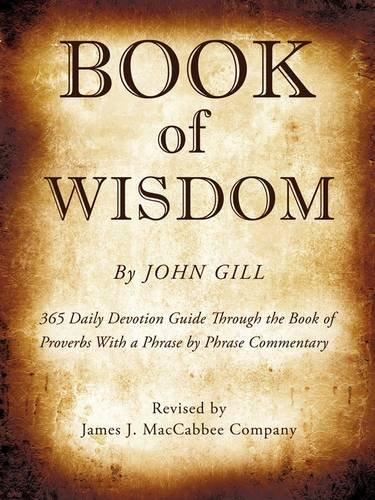 9781606470879: Book of Wisdom By John Gill