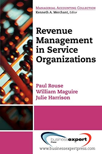 9781606491478: Revenue Management for Service Organizations (Managerial Accounting Collection)