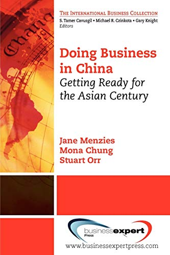 Doing Business in China: Getting Ready for: Jane Menzies, Mona