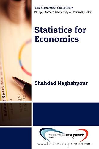 9781606494035: Statistics for Economics (Economics Collection)