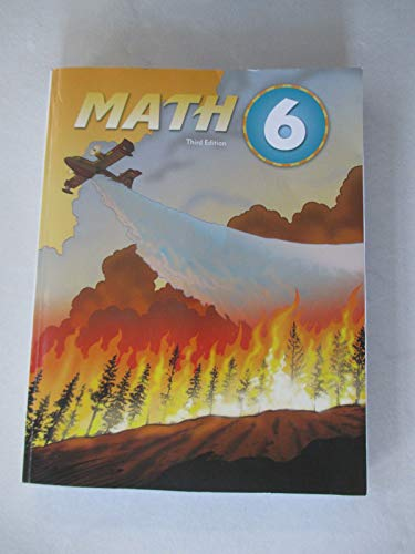 9781606821121: Math 6 Student Text (3rd Ed)