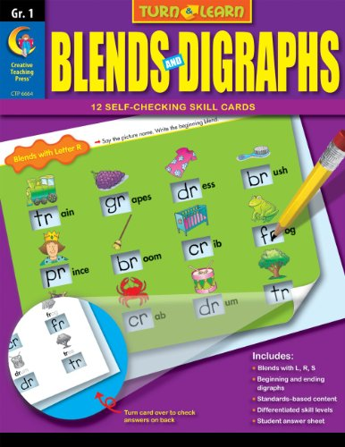 9781606899649: Blends and Digraphs, Turn & Learn Gr. 1