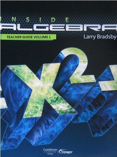 9781606972632: Inside Algebra Teacher Guide Volume 1