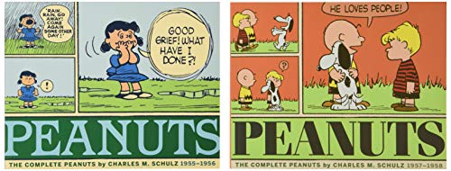 9781606998717: The Complete Peanuts 1955-1958: Gift Box Set Paperback Edition
