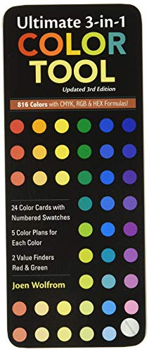 9781607052357: Ultimate 3-in-1 Color Tool: -- 24 Color Cards with Numbered Swatches -- 5 Color Plans for each Color -- 2 Value Finders Red & Green