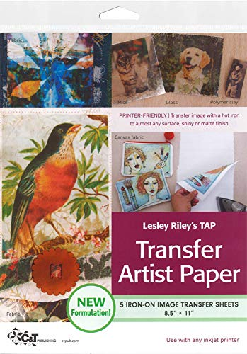 9781607052531: Lesley Riley's Tap, Transfer Artist Paper: 5 Iron-on Image Transfer Sheets 8.5 X 11