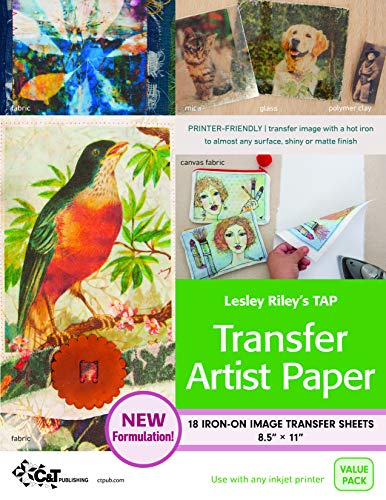9781607052548: Lesley Riley's Tap Transfer Artist Paper - 18 Sheet Pack