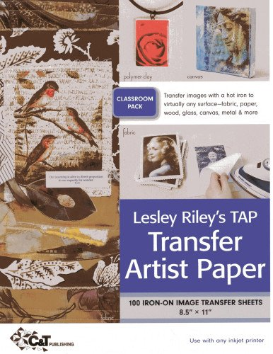 9781607053842: Lesley Riley's TAP Transfer Artist Paper Class Room Pack: 100 Iron-on image transfer sheets · 8.5