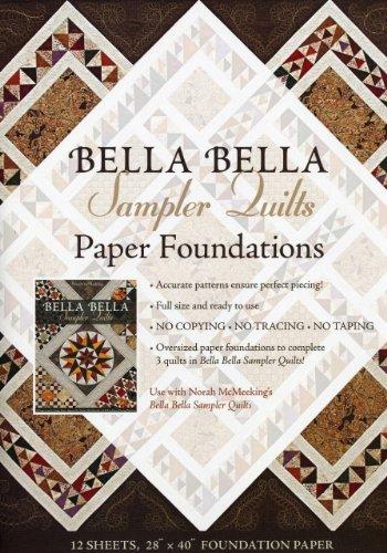 Bella Bella Sampler Quilts Paper Foundations: Use with Norah McMeeking's Bella Bella Sampler ...