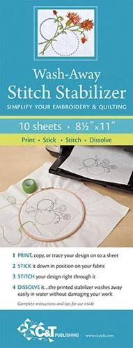 9781607057116: Wash Away Stitch Stabilizer: Simplify Your Embroidery & Quilting: Print, Stick, Stitch & Dissolve