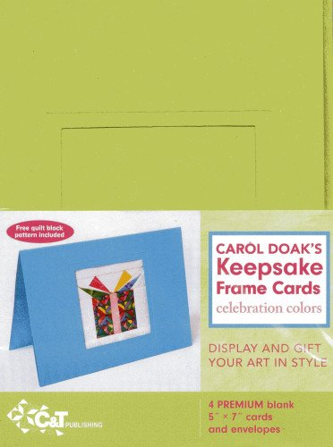 Carol Doak's Keepsake Frame Cards - Celebration Colors (1607057603) by Doak, Carol