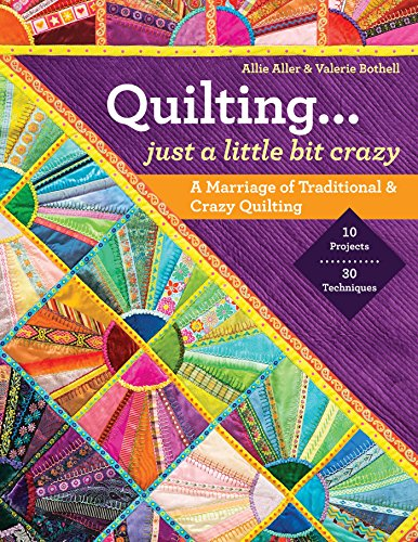 9781607057710: Quilting. Just a Little Bit Crazy: A Marriage of Traditional & Crazy Quilting