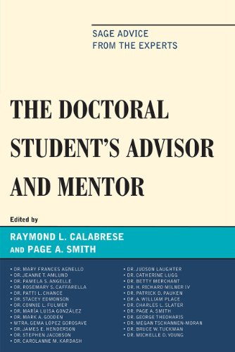 9781607094494: The Doctoral StudentOs Advisor and Mentor: Sage Advice from the Experts