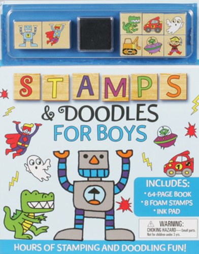 9781607104575: Stamps and Doodles for Boys (Stamps & Doodles)