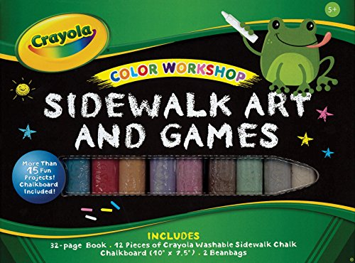 Crayola Color Workshop: Sidewalk Art and Games [With Chalk, Chalkboard, 2 Beanbags]: Labat, Andrea