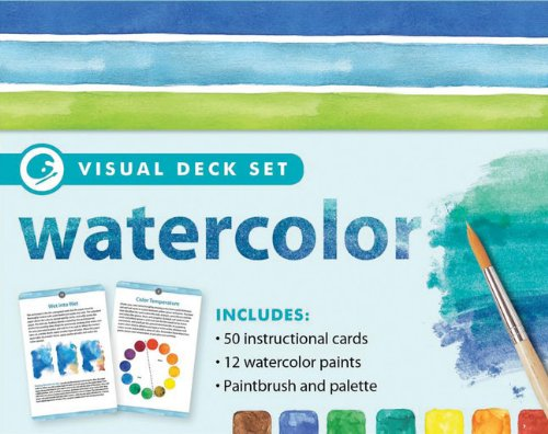 9781607107569: Watercolor: Visual Deck Set (Visual Deck Plus)