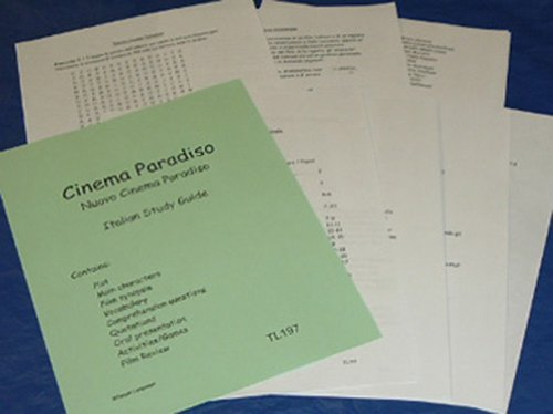 9781607130628: Cinema Paradiso-Italian Study Guide to accompany the Feature Film
