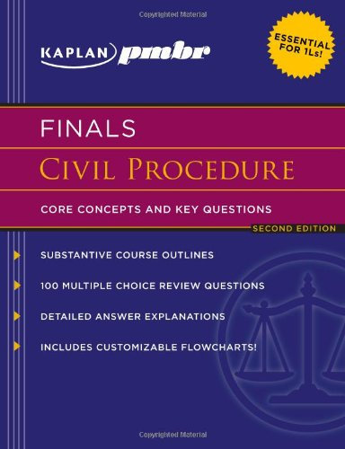 9781607140894: Kaplan PMBR FINALS: Civil Procedure: Core Concepts and Key Questions