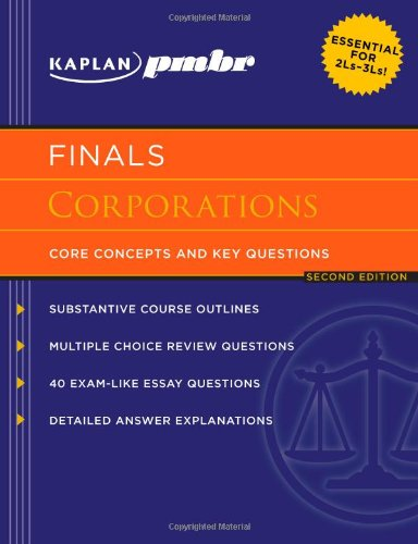 9781607140931: Corporations: Core Concepts and Key Questions (Kaplan PMBR Finals)