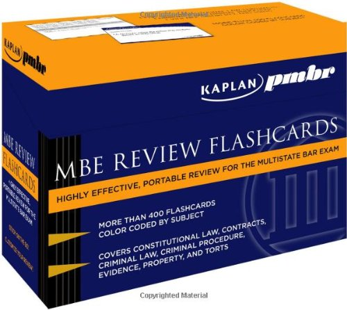 9781607141044: Kaplan PMBR: MBE Review Flashcards