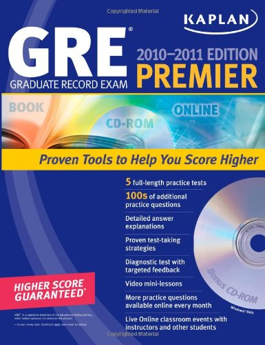 9781607142843: Kaplan GRE Exam 2010-2011 Premier with CD-ROM (Kaplan GRE Premier Program (W/CD))