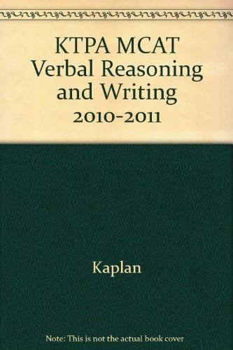 MCAT VERBAL REASONING AND REVIEW NOTES [Paperback] by KAPLAN,