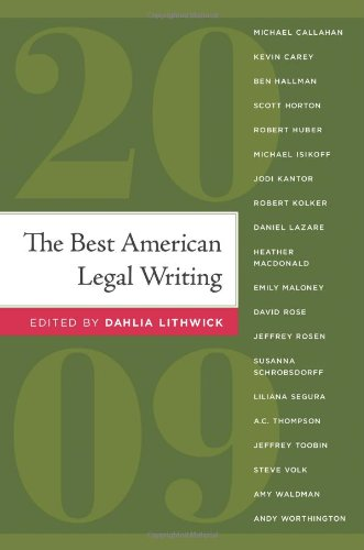 9781607144663: The Best American Legal Writing 2009