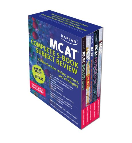 9781607146544: Kaplan MCAT Review: Complete 5-Book Series (Kaplan MCAT Complete Subject Review (5v))