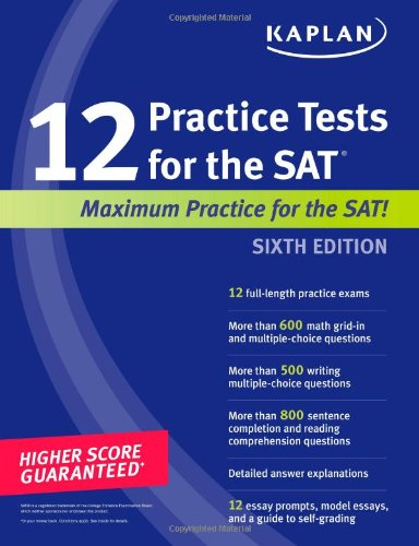 9781607146643: Kaplan 12 Practice Tests for the SAT