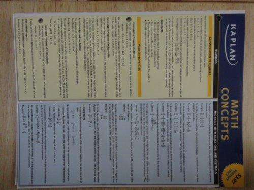 9781607147763: Math Concepts Study Chart