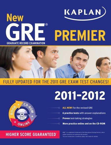9781607148494: New GRE 2011-2012 Premier with CD-ROM (Kaplan GRE)