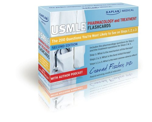 9781607148791: Kaplan Medical USMLE Pharmacology and Treatment Flashcards: The 200 Questions You're Most Likely to See on Steps 1, 2 & 3 (cards)