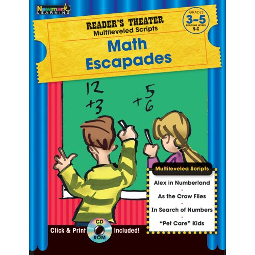 9781607190523: Reader's Theater Multileveled Scripts: Math Escapades Grades 3-5 with CD-ROM
