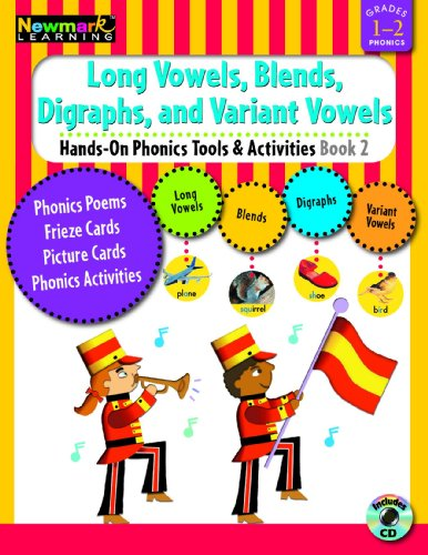 9781607190554: Hands-On Phonics Book 2: Long Vowels, Blends, Digraphs, Variant Vowels Grades 1-2 with CD-ROM