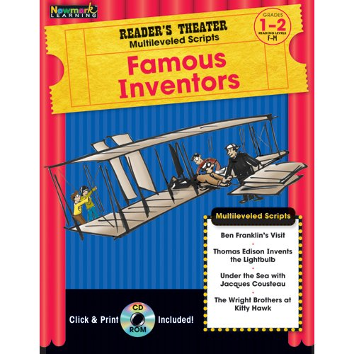 9781607190660: Reader's Theater Multileveled Scripts: Famous Inventors Grades 1-2 with CD-ROM