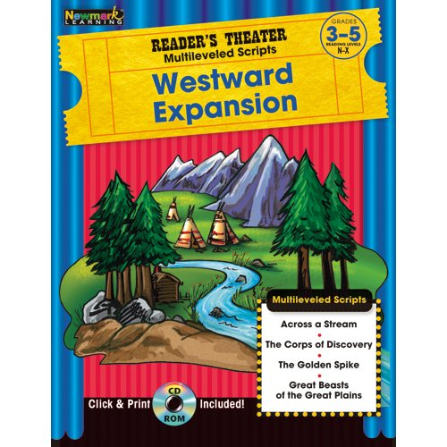 9781607190714: Reader's Theater Multileveled Scripts: Westward Expansion Grades 3-5 with CD-ROM