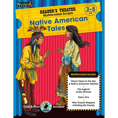 9781607190721: Reader's Theater Multileveled Scripts: Native American Tales Grades 3-5 with CD-ROM