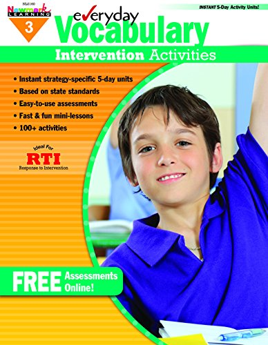 Everyday Vocabulary Intervention Activities for Grade 3 (9781607191322) by Jackie Glassman