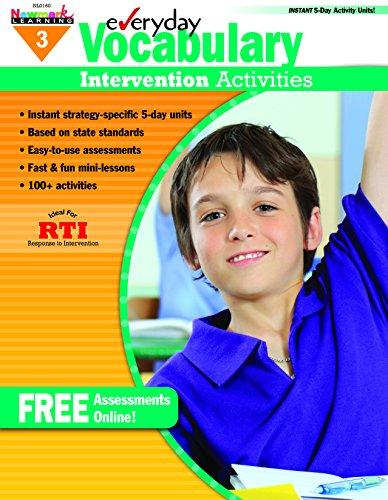 9781607191322: Everyday Vocabulary Intervention Activities for Grade 3