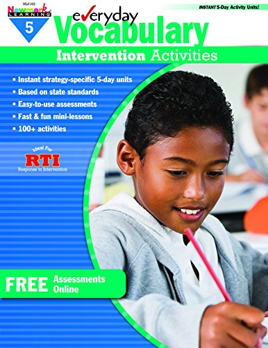 Everyday Vocabulary Intervention Activities for Grade 5 (9781607191346) by Jackie Glassman