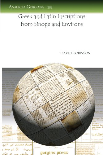 GREEK AND LATIN INSCRIPTIONS FROM SINOPE AND: David Robinson