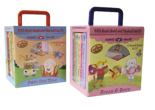 Mother Goose Nursery Rhyme 12 Board book and Sing Along Audio CD Travel Set (9781607276821) by Mother Goose