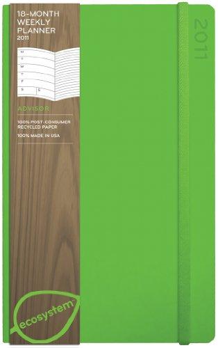 9781607362005: Ecosystem 18-month Weekly 2011 Planner: Medium (Kiwi) (Ecosystem Series)