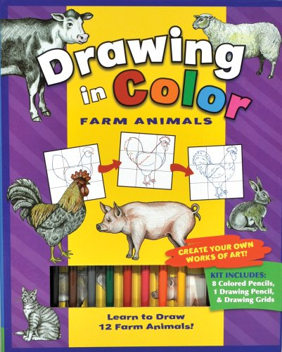 9781607453734: Farm Animals (Drawing in Color series)