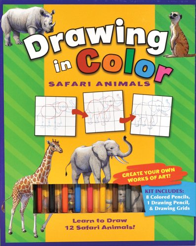 Safari Animals (Drawing in Color series): Flying Frog Publishing
