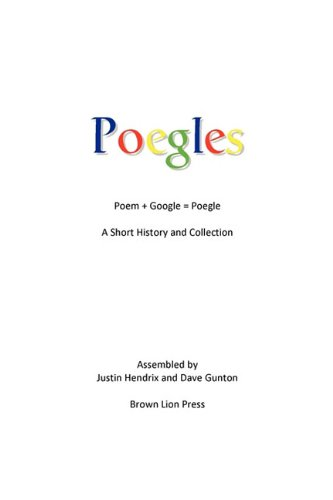 9781607468684: Poegles: A Short History and Collection