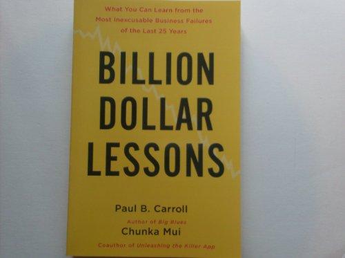 9781607518884: Billion Dollar Lessons